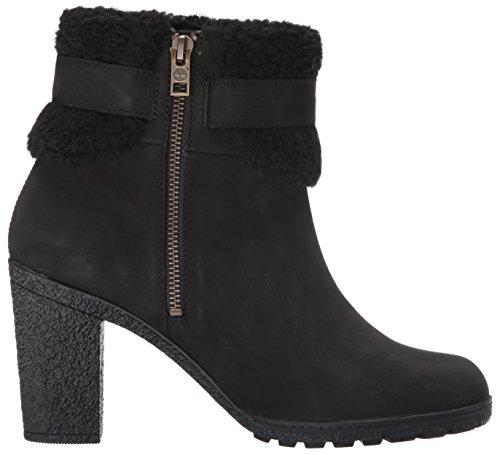 Timberland Womens Glancy Teddy Fleece Fold Down Boot Black nubuck