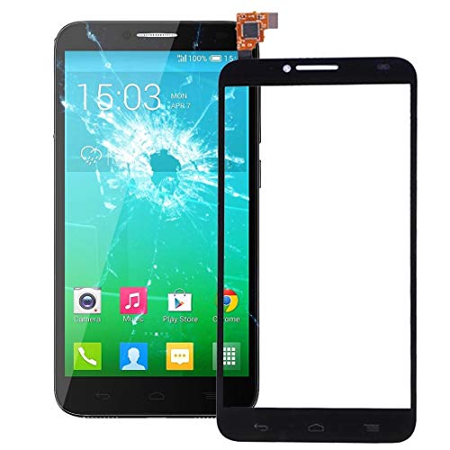 GuoBomatealliance Touch Panel Repaire & Ersatzteile Touch Panel für Alcatel One Touch Idol 2 / OT6037 / 6037 / 6037Y (Schwarz) (Farbe : Black)