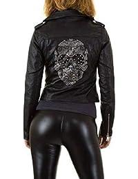 fashion boutik Veste Perfecto Noir Tete de Mort Skull dans Le Dos Motarde  Biker b3f97fcc5285