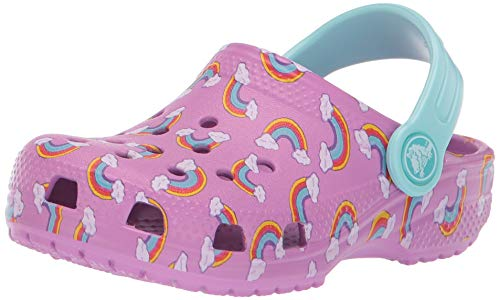 Crocs classic seasonal grphc clog k, zoccoli unisex-bambini, viola (violet 508.), 22/23 eu