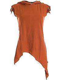 Vishes - Alternative Bekleidung –Pixie Zipfelshirt mit Zipfelkapuze aus Baumwolle