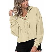 PAOLIAN Damen Mode Kapuzenpullover Langarm Hoodie Sweatshirt Pullover Crop Top Coat Sports Mantel Tops preisvergleich bei billige-tabletten.eu