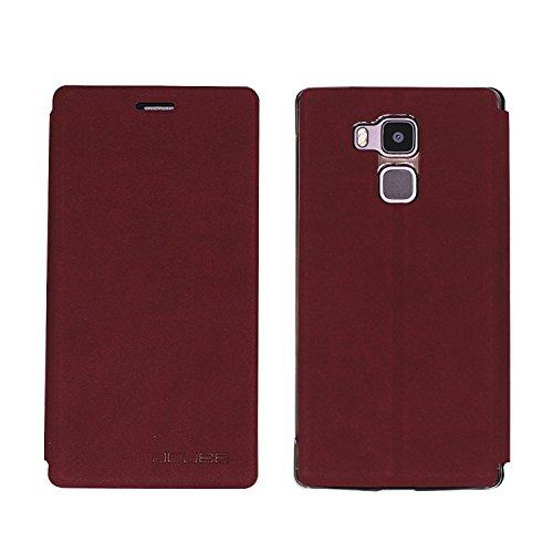 Guran® PU Leder Tasche Etui für Vernee Apollo Lite Smartphone Flip Cover Stand Hülle Case-wein rot