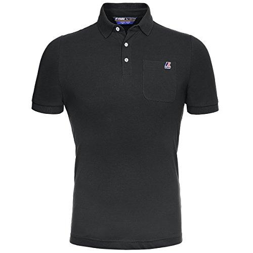 K-Way - Herren- Weißes Polo-Shirt Baumwolle Elastan für herren Black