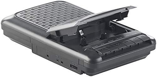 auvisio Kassettenrecorder: Mobiler Kassettenspieler, Lautsprecher, Kopfhörer-Anschluss, Mikrofon (Kassettenrecorder mit Mikrofon)