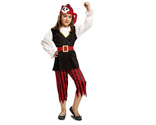 Imagen de my other me  disfraz de pirata calavera para niñas, talla 3 4 años viving costumes mom00574