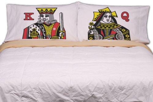 Schlummerfunktion City Designs gedruckt Kopfkissen, Baumwollmischung, weiß, King Size