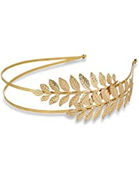 Zelin Gold Leaf Style Hairband for Women