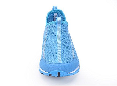 Santiro Herren Damen Atmungsaktiv Wassersportschuhe Ineinander Strandschuhe. Blau