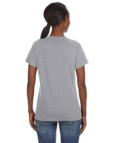 Ringspun Anvil-Maglietta con collo a V, da donna grigio