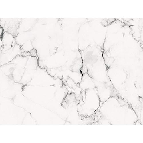 naufkleber für Küche und Bad   Dekor Marmor Weiß Schwarz   Fliesenfolie für 15x20cm Fliesen   14 Stück   Klebefliesen günstig in 1A Qualität ()