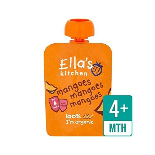Ellas Küche Bio Glatt Mangopüree Stufe 1 70G - Packung mit 4