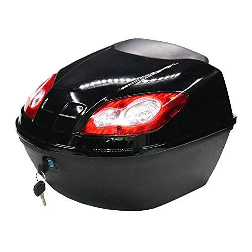 Motorrad-Scooter Top-Box-Gepäck Harter Kofferraum Top-Gehäuse, Abschließbare Obere Harte Hecktasche, Mit Warnleuchten
