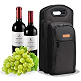Sacchetto di vino nero ALLCAMP Deluxe con accessori vino borsa…