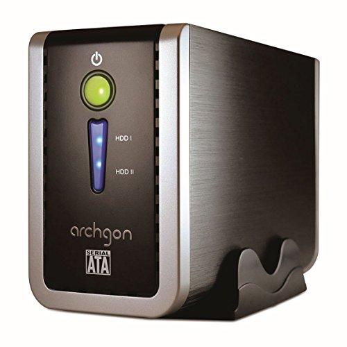 Archgon® MH-3622-PRD USB 3.0 Dual-Bay 3.5-inch Festplatten Raid Gehäuse mit JBOD/Raid 0/Raid 1