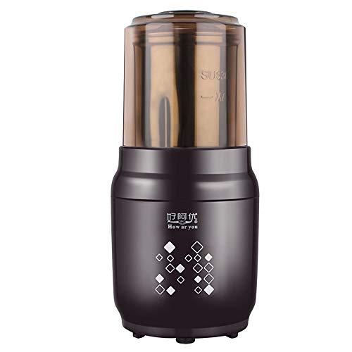 Fighrh 300 Watt Elektrische Kaffeemühle Automatische Haushaltsmühle Mahlen Verschiedene Bohnen Gewürzmühle Mit Geräuschlosen Motor One Touch Elektrische Kaffeemühle Mühle