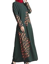 Somoll Vestidos Ajustables de Mujer de Manga Larga árabe musulmán Abaya