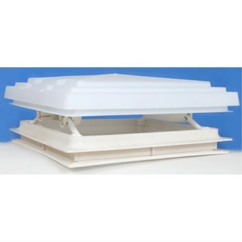MKP-Dachlicht für Wohnmobil, 400 x 400 mm, inklusive Fliegennetz, weiß