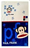 Montaly - Extra Soft Monkey Paul Frank Blue Baby Blanket(100x150cm)free one feather mask