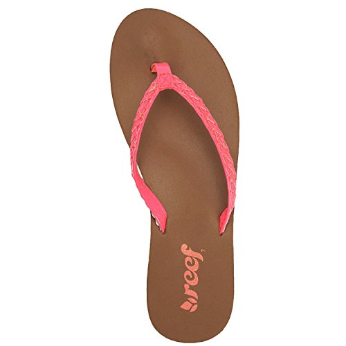 Reef Twisted Stars B Sandals Women neon pink / rose Taille 8.0 Rose