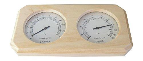 Sauna Thermo und Hygrometer aus Holz - 2