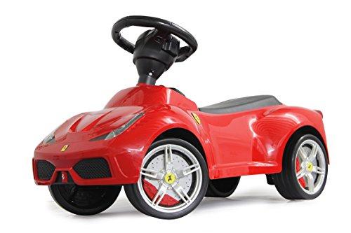 Jamara 460204 - Rutscher Ferrari 458 rot – Kippschutz, Flüsterreifen, Kunstledersitz, echte Scheinwerferattrappen, Hupe, offiziell lizenziert, wertige Verarbeitung