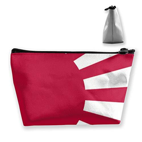 Trapez Make-up Taschen Red Sun Japan Flagge Kosmetiktasche Kulturbeutel Tragbare Reise-Waschbeutel