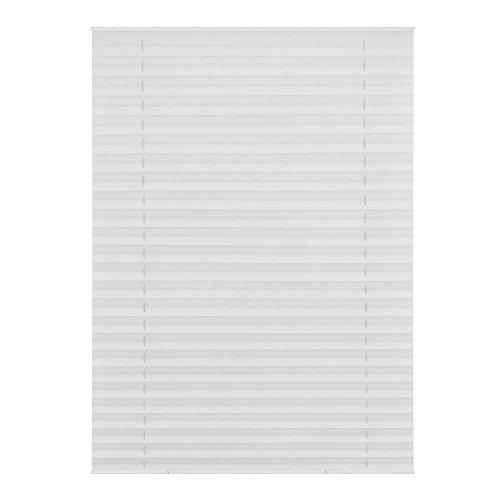 Lichtblick DPS.C02.01 Dachfenster Plissee Easyfix, ohne Bohren - Weiß 36,3 cm x 60 cm (B x L) C02/CK02 (Warehouse-dachfenster)