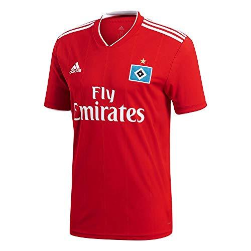 adidas Herren Hamburger SV Away Kurzarm Trikot Scarlet/White M