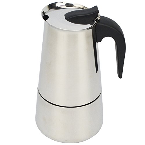 ATWFS 2/4/6/9 Cups Stainless Steel Coffee Maker Moka Pot Espresso Cups Latte Percolator Stove Top Espresso Pot 41KLOP9nBjL