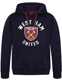 0a4d79351d08e West Ham United FC - Sudadera Oficial con Capucha y Escudo del Club - para  Hombre