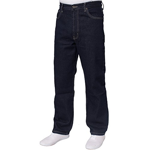 NEW MENS STRAIGHT LEG WORK FARMERS MECHANICS BLUE DENIM JEANS PANTS ALL WAIST SIZES