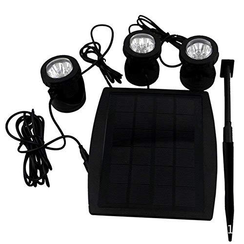 3 * 6 LEDs IP68 wasserdichte super helle Solar Spotlight Solarspot Solarleuchte für Garten / Hof / Teich / Gehweg / Swimmingpool (Warmweiß)