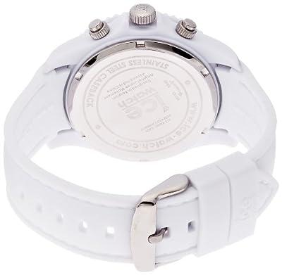Ice-Watch CHM.WE.B.S.12 - Reloj cronógrafo de cuarzo para hombre, correa de silicona color naranja de Ice-Watch