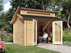 Abri jardin Karibu VARMLAND 1 bois 327 x 327 x 290cm Karibu 55246