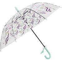 Paraguas Transparentes,Unicornio Claro Paraguas para niños Chicos, Chicas,Paraguas Abierto Auto A