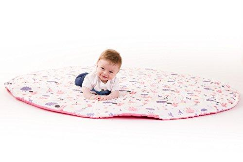 Manta de juegos para bebes XXL grande para gatear acolchada gimnasio suelo actividades alfombra Pink Rabbit