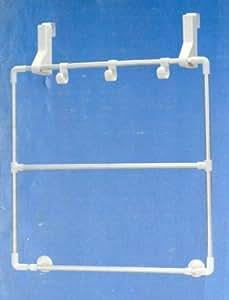 Porte-serviettes pour montage sur parois de douche et portes