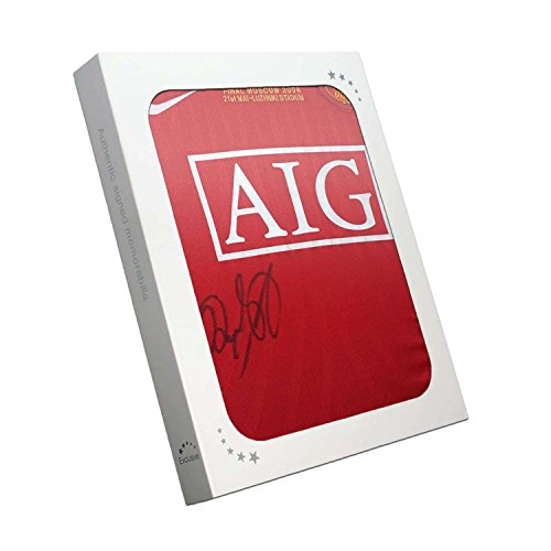 Ryan Giggs Signed 2008 Manchester United Champions League Shirt In Gift Box