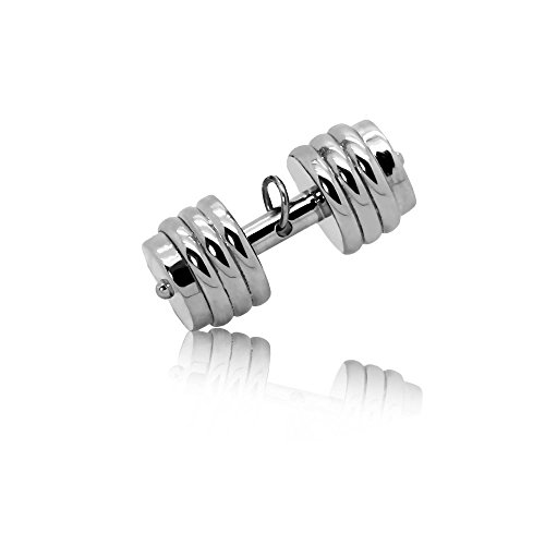 tumundo Ketten-Anhänger Hantel Gewicht Boxhandschuh Sport Fitness Edelstahl Für Halskette Königskette Herren Herrenkette Silbern, Variante:Modell 5 - 5 Eiweiß