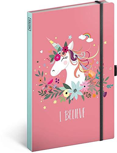 Notizbuch mit Gummiband liniert - Notizblock für Frauen und Mädchen - Tagebuch Journal Notebook...