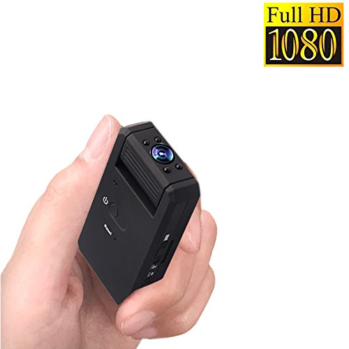 Ir-video-cam (Mini Versteckte Kamera, Zarsson Portable 1080p Nanny Spy Cam Sicherheits Überwachungs Kamera DV Recorder mit Bewegung Erkannt, Nachtsicht, 140 Grad View Angle Video Loop Recording und TF Card Slot)