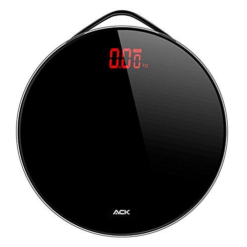 Bilancia digitale bilancia elettronica bilancia pesapersone Funzionamento a batteria corpo nero ampio display LED peso bilancia