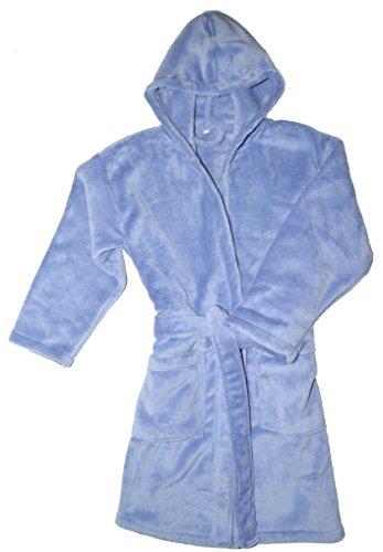 Kinder Bademantel Kuschel Soft Fleece Microfaser mit Kaputze & Taschen