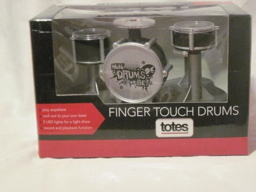 Finger Touch Drums - Rockin Beats at Your Fingertips - Play Anywhere - Record and Playback Function - by Totes