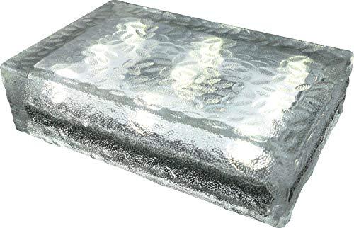 FUCHS Mattonella Solare LED Vetro bianco caldo 23x15x6 cm - per l\'illuminazione del percorso (antiscivolo)