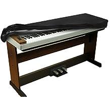 Cubierta estirable del terciopelo libre de polvos para el piano con 88-teclas de Balfer (Negra)