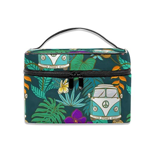 Portable Travel Toiletry Bag Organizer,Tropical Kombi - Aqua and Teal Cosmetic Bags for Women Girl,Makeup Bag, Storage Bag -