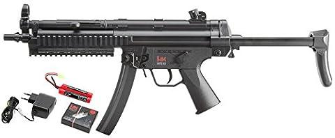 Heckler & Koch Uni MP5 A5 Ras Ebb Airsoft Gewehr, Schwarz, 465-655 mm