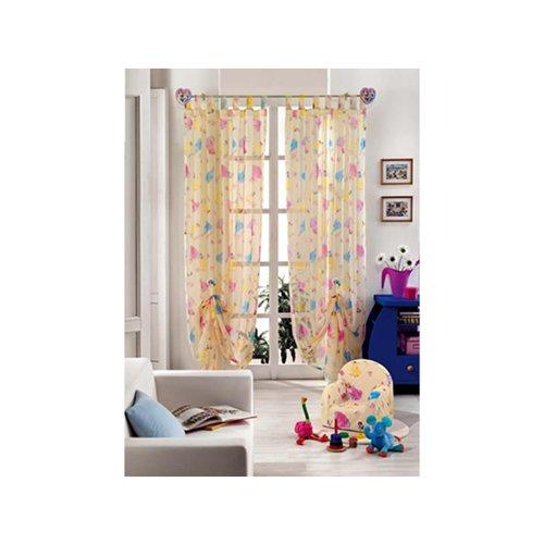 Original Disney Princess Prinzessinen 1 St.XXL Fertig-Schlaufenschal/Gardine/Vorhang 290x140cm Creme NEU
